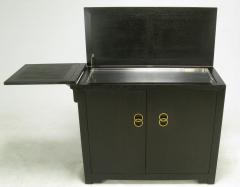 Micheal Taylor For Baker Custom Bar With Built In Refrigerator c 1950s - 14947