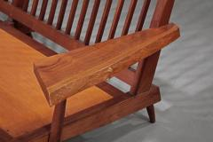 George Nakashima Left and Right Free Form Arm Sofas c 1955 - 16430