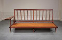 George Nakashima Left and Right Free Form Arm Sofas c 1955 - 16432