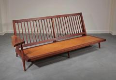George Nakashima Left and Right Free Form Arm Sofas c 1955 - 16434