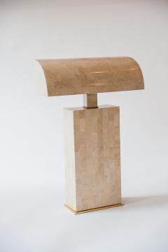 Karl Springer Coral Veneered Sculpture Desk Lamp Karl Springer USA c 1980 s - 18438