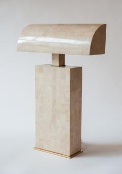Karl Springer Coral Veneered Sculpture Desk Lamp Karl Springer USA c 1980 s - 18439