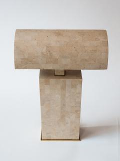 Karl Springer Coral Veneered Sculpture Desk Lamp Karl Springer USA c 1980 s - 18440
