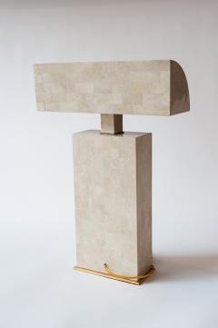 Karl Springer Coral Veneered Sculpture Desk Lamp Karl Springer USA c 1980 s - 18442