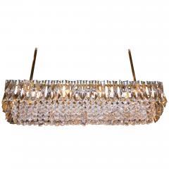 J L Lobmeyr Crystal and Brass Box Chandelier J L Lobmeyr Italy c 1960 s - 18585