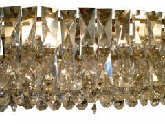 J L Lobmeyr Crystal and Brass Box Chandelier J L Lobmeyr Italy c 1960 s - 18586