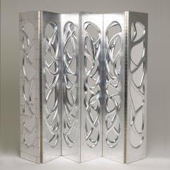 Phillip Lloyd Powell Pair of Silvered Walnut Mirrored Screens Phillip Lloyd Powell USA c 1960 s - 18912