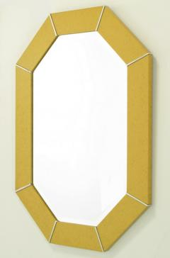 Karl Springer Octagonal Chrome Marbelized Lacquer Mirror USA c 1970s - 19525