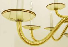1940s Twelve Arm Murano Deep Champagne Glass Chandelier Italy - 19586