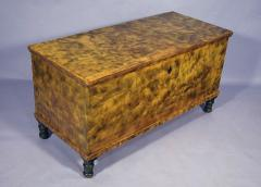 Lancaster County Penn Blanket Chest Chrome Yellow with Smoke Decoration - 20486