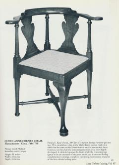 An Early Queen Anne Walnut Corner Chair Massachusetts c 1750 - 21767