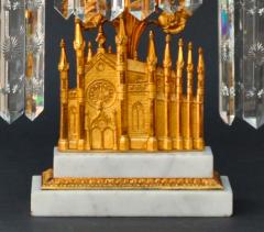William F Shaw A Three Part Set of Gothic Revival Girandoles c 1850 - 22990