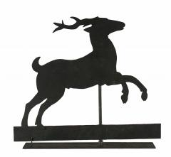 Stag Weathervane with Trememdous Yellow Painted Surface 1840 1870 - 23073