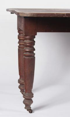 Red Painted American Dropleaf Farm Table c 1830 1860 - 23301