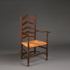 Turned Armchair circa 1760 Delaware River Valley - 23334