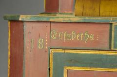 Orwig Family Corner Cupboard dated 1861 - 23377
