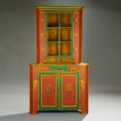 Orwig Family Corner Cupboard dated 1861 - 23423