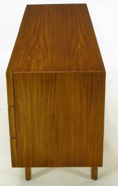 American of Martinsville Mahogany Dresser with Recessed Elliptical Pulls c 1960s - 23563