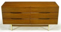 American of Martinsville Mahogany Dresser with Recessed Elliptical Pulls c 1960s - 23565