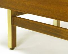 American of Martinsville Mahogany Dresser with Recessed Elliptical Pulls c 1960s - 23567
