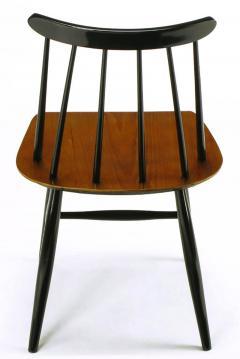 Ilmari Tapiovaara Six Teak and Black Lacquer Dining Chairs Ilmari Tapiovaara Sweden c 1950s - 23616