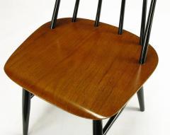 Ilmari Tapiovaara Six Teak and Black Lacquer Dining Chairs Ilmari Tapiovaara Sweden c 1950s - 23617