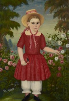 Girl in a Red Dress c 1850 - 23884