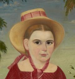 Girl in a Red Dress c 1850 - 23826