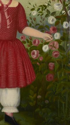 Girl in a Red Dress c 1850 - 23827