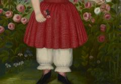 Girl in a Red Dress c 1850 - 23828