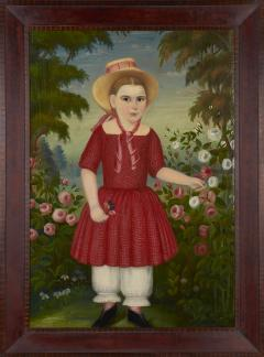 Girl in a Red Dress c 1850 - 23883