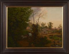Edward Sachse Missouri Village Scene by Edward Sachse 1804 1873 circa 1865 - 23896