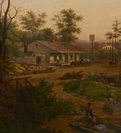 Edward Sachse Missouri Village Scene by Edward Sachse 1804 1873 circa 1865 - 23897