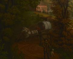 Edward Sachse Missouri Village Scene by Edward Sachse 1804 1873 circa 1865 - 23898