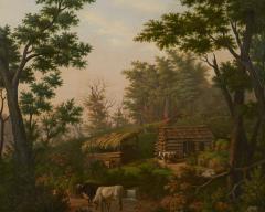 Edward Sachse Missouri Rustic Scene by Edward Sachse 1804 1873 circa 1865 - 23899