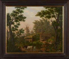 Edward Sachse Missouri Rustic Scene by Edward Sachse 1804 1873 circa 1865 - 23900