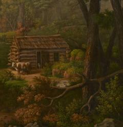 Edward Sachse Missouri Rustic Scene by Edward Sachse 1804 1873 circa 1865 - 23902