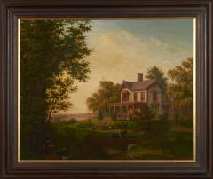 Edward Sachse American Scenery The Country House by Edward Sachse 1804 1873 circa 1865 - 23912