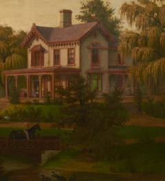 Edward Sachse American Scenery The Country House by Edward Sachse 1804 1873 circa 1865 - 23913
