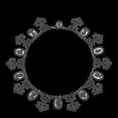 Berlin Iron Mirrored Cameo Necklace Circa 1805 1920 - 24819