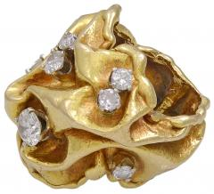 Gilbert Albert Diamond and Gold Ring Gilbert Albert - 24965