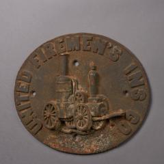Firemark for the United Firemens Insurance Company circa 1868 1871 - 25422