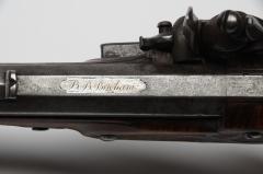 Flintlock Pistol probably Cincinnati engraved BB Brigham circa 1810 1820 - 25531