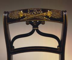 Important Set of 4 Carved and Gilt Decorated Rosewood Upholstered Side Chairs - 26543