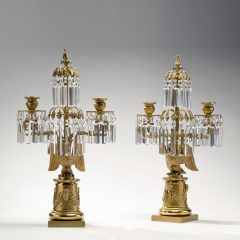 Messenger Phipson Pair of Lacquered Brass Or Molu Eagle Base Candelabra c 1820 - 26547