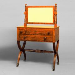 Extremely Fine Rare Curule Base Mahogany Dressing Bureau c 1810 1815 - 26587