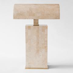 Karl Springer Coral Veneered Sculpture Desk Lamp Karl Springer USA c 1980 s - 28497
