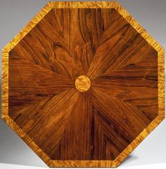 Rare Fine Rosewood Spalted Satinwood Faux Grained Octagonal Drum Table - 29951