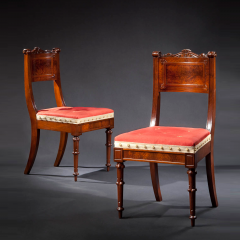 Richard Parkin Pair of Carved Walnut Dining Chairs 1833 1840 - 29970