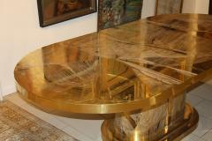Armand Jonckers Signed Armand Jonckers Etched Bronze Dining Table 1970s - 30532